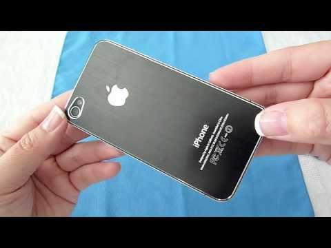 IPhone 4 Black Iron Battery Cover