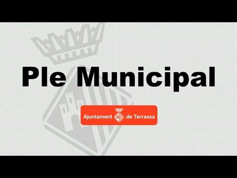 Ple Municipal ordinari del 19 de juliol de 2019