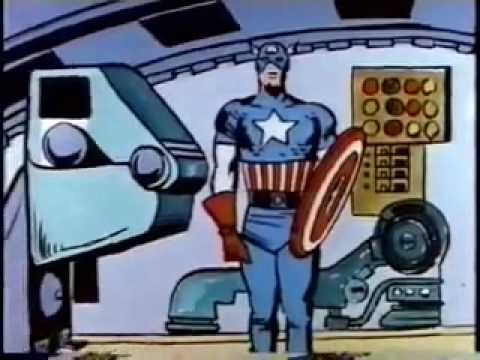 Captain America - The Return Of Captain America (1966) Original Cartoon Part 1