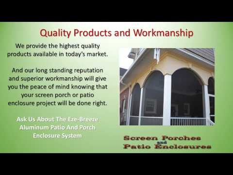Screen Porch and Patio Enclosure Builders in Raleigh NC  Cary NC  Apex NC 919-200-6218