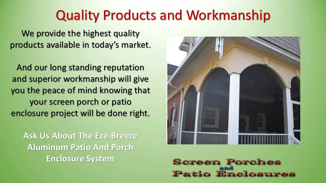Screen Porch And Patio Enclosure Builders In Raleigh NC