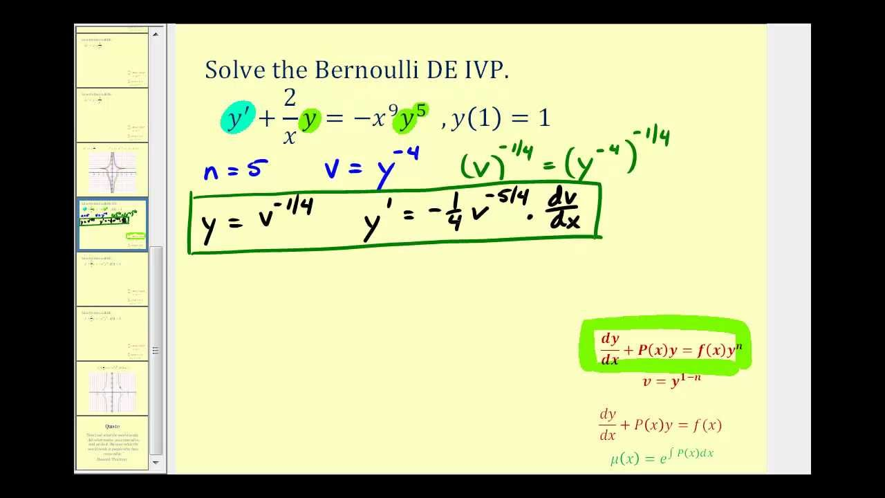 solve initial value problem differential equations