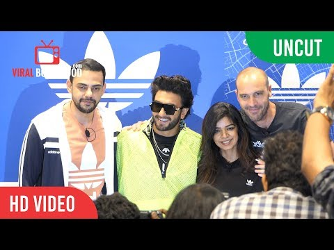 UNCUT - Brand Ambassador Ranveer Singh At The Launch Of Adid