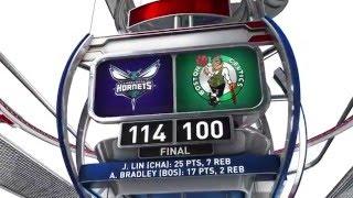 Charlotte Hornets vs Boston Celtics - April 11, 2016