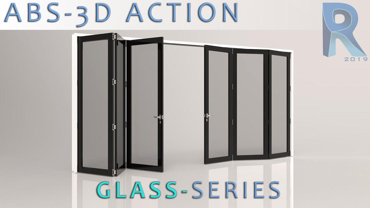 Revit Fully Parametric Doors 3d Bi Fold 2 X 3 Glass