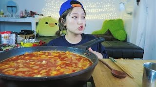 #2 How to Enjoy Super Spicy Noodles [Spicy Seafood Rice/Noodle Soup aka JJAMPPONG] Cooking/Mukbang