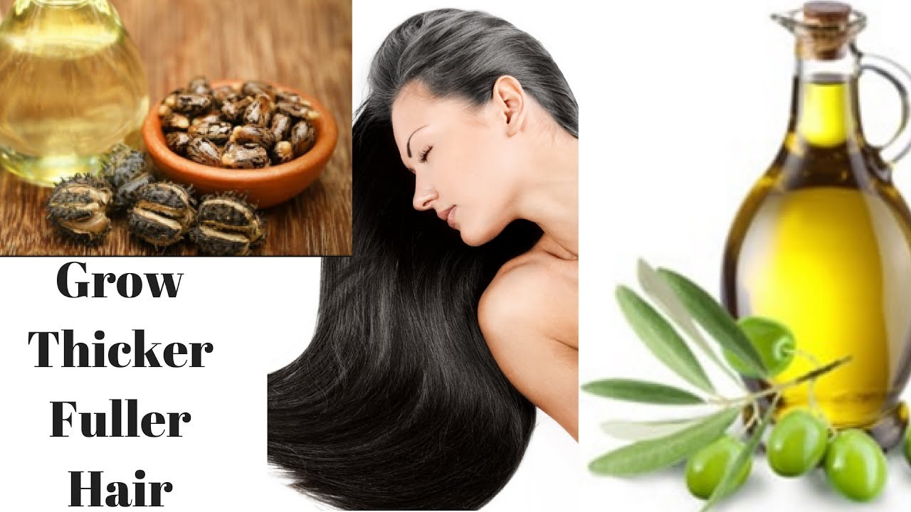 castor oil with olive oil for natural hair growth - grow hair fast