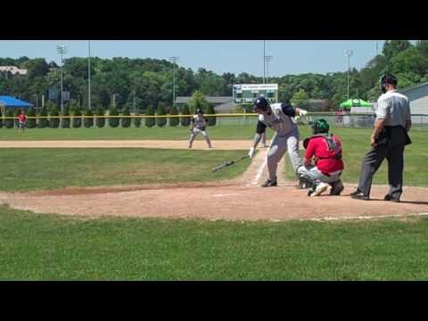 Galesburg American Legion Baseball Derek Schwab Bats vs. Elk Grove.MP4