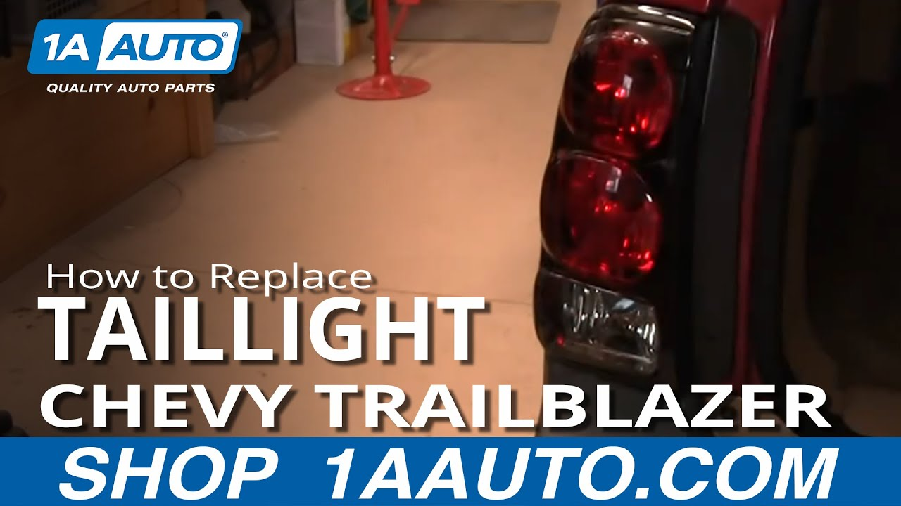 replace tail light   chevy trailblazer youtube