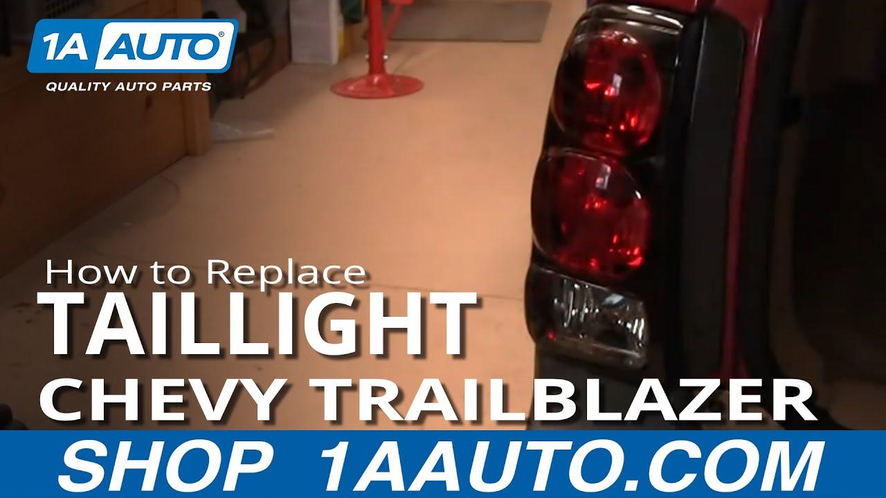 2007 Chevrolet Suburban Wiring Diagram How To Replace Tail Light 02 09 Chevy Trailblazer Youtube