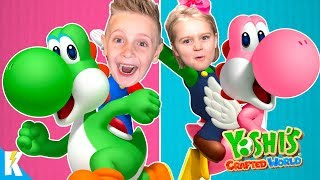 Kids Play Yoshi's Crafted World on Nintendo Switch! KIDCITY GAMING