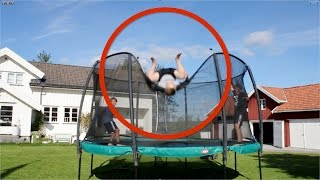 WORST TRAMPOLINE FAIL EVER! [triple backflip out of trampoline]