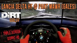 DiRT Rally - Lancia Delta HF @ Pant Mawr (Gales) (Triple Screen, Gopro)