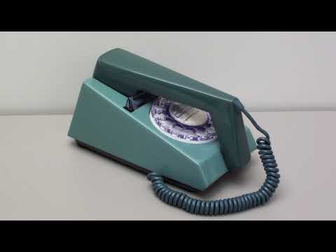 Old 1970's Trimphone Sound Ringing Blue GPO 722 Vintage Telephone