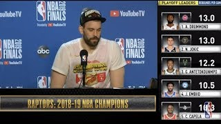 Marc Gasol Press Conference | NBA Finals Game 6