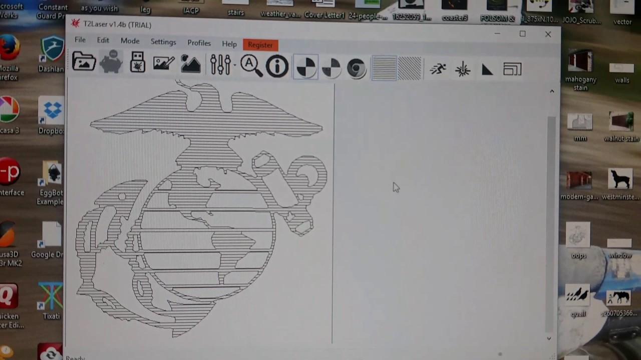 T2 laser hatch fill tutorial