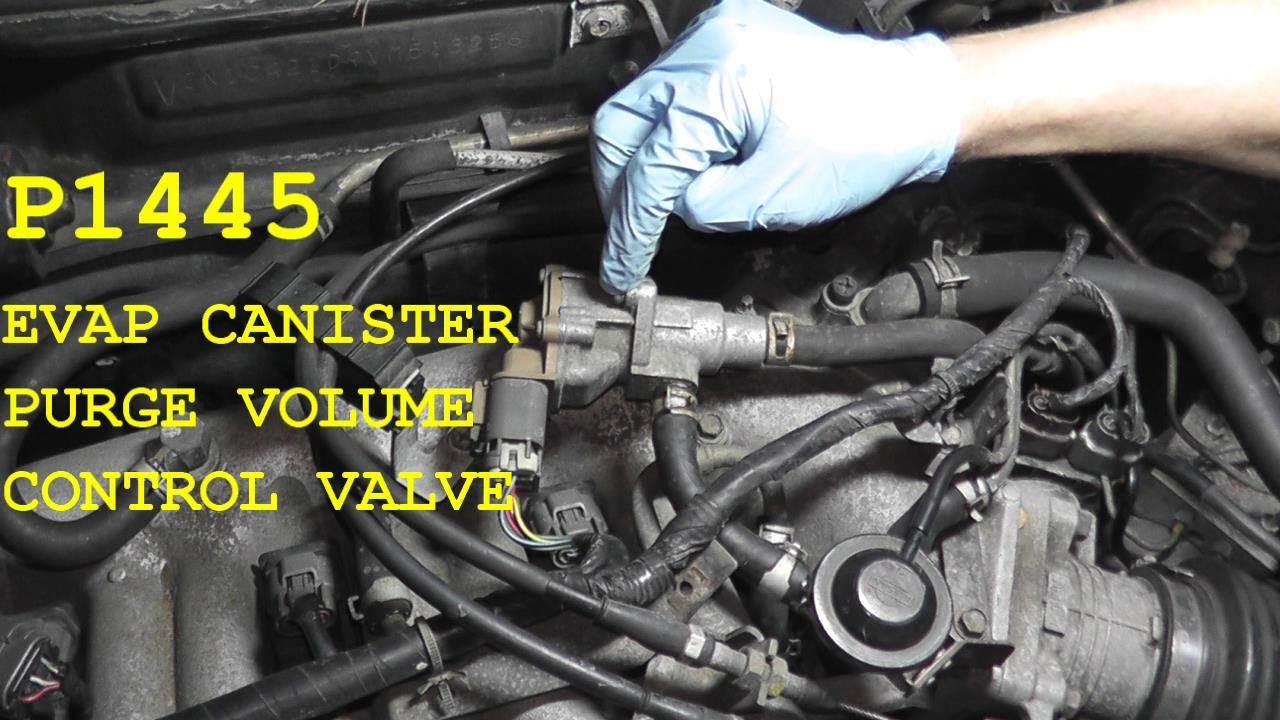 How to test and replace the EVAP Canister Purge Volume Control Valve P1445  YouTube