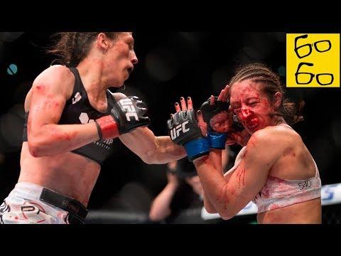 САМЫЕ ЖЕСТОКИЕ И КРОВАВЫЕ БОИ ДЕВУШЕК в истории ММА! ТОП-5 брутальных женских боев — разбор от Яниса