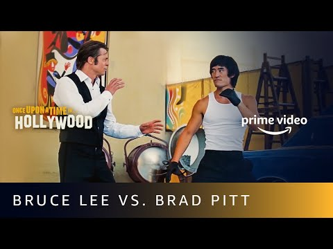 Fight Scene - Bruce Lee Vs. Brad Pitt | Once Upon A Time In Hollywood | Amazon Prime Video