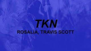 ROSALÍA, Travis Scott - TKN (lyrics) | she got hips I gotta grip for | TikTok