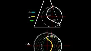 [Начертательная геометрия] Пересечение конуса и сферы