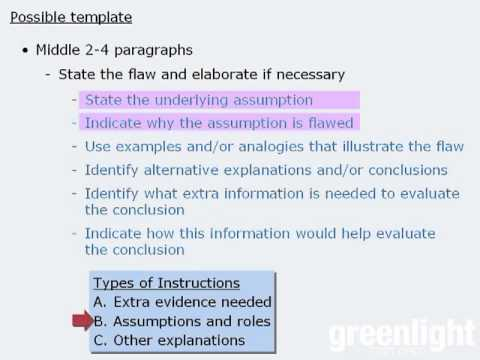 gre analytical writing writing the argument essay