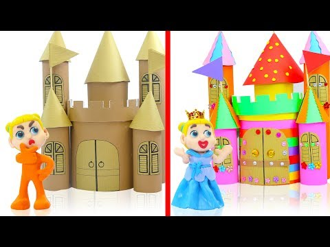 SUPERHERO BABY BUILDS COLOFUL CASTLE 馃挅 Play Doh Cartoons For Kids