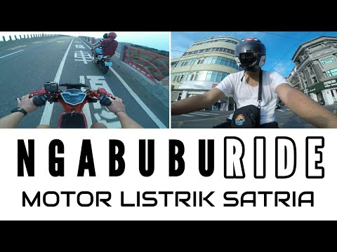 NGABUBURIDE PAKE MOTOR LISTRIK SATRIA / E-BIKE SATRIA RACING