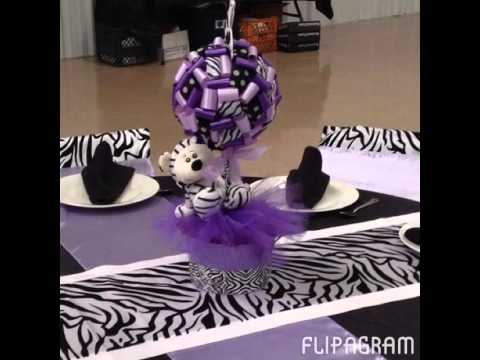 Flipagram Custmomized Zebra Baby Shower Youtube