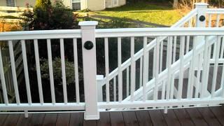 Ace Deck & Fence Llc Timbertech Pacific Walnut Pvc Decking & White Railings.avi