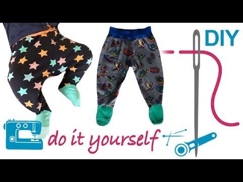 DIY Hose nähen für Anfänger – Babyhose mit Füßchen – Zierstoff ...