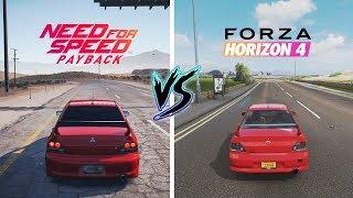 Forza Horizon 4 vs NFS Payback | Mitsubishi | Sound Comparison