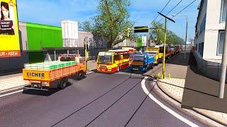 KSRCT Bus Driving in Heavy Traffic | Eicher Truck Traffic | Kerala Bus Simulator