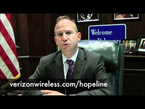 Delaware Governor Jack Markell Shares Verizon Wireless HopeLine Details