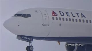 1st Flight of Delta Boeing 737-900ER N869DN w/ Landing & Missed Approach