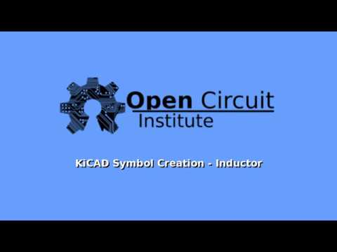 KiCAD Symbol Creation - Inductor - YouTube