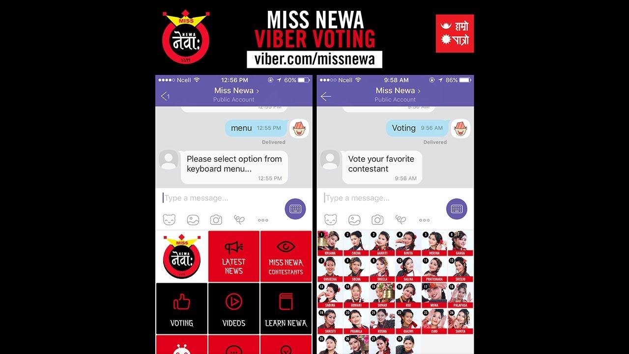 Miss Newa Chatbot - Viber Voting