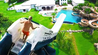 Top 10 CRAZIEST Backyard Waterslides IN THE WORLD!