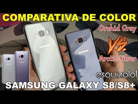Orchid Gray Vs Arctic Silver Samsung Galaxy S8 S8 Comparacion En