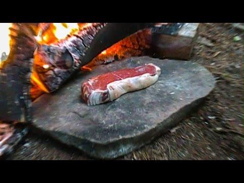 Cooking Meat for a Survival Situation #8 (Rock Frying)