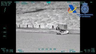 Interceptado en Almería un furgón a la fuga que transportaba 1.850 kilos de hachís