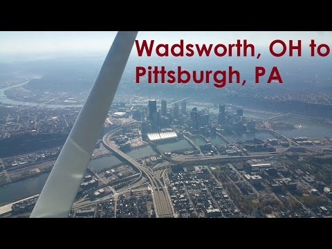 Wadsworth Ohio Skypark to Allegheny County Airport (Pittsburgh, Pennsylvania) in a Cessna 172L