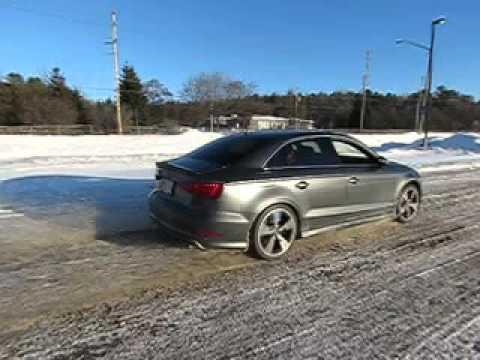 2015 Audi S3 sedan quattro awd all wheel drive launch slow motion