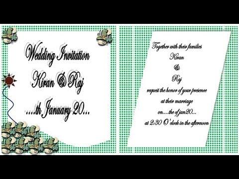 How to make Wedding invitation on Microsoft Word 2007 step by step - how to make invitations on word