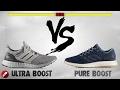 Adidas Ultra Boost 3.0 vs Pure Boost 2017!
