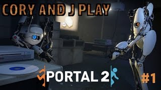 Cory and J Play Portal 2 Epi 1 CAN WE EVEN PLAY THIS?!