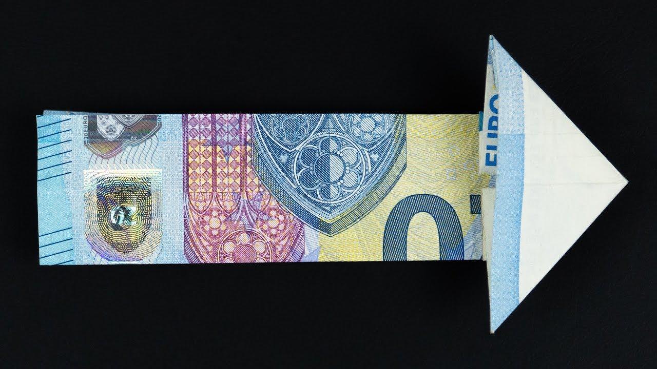 Geld Falten Pfeil Geldgeschenk Basteln Aus Einem Geldschein Youtube