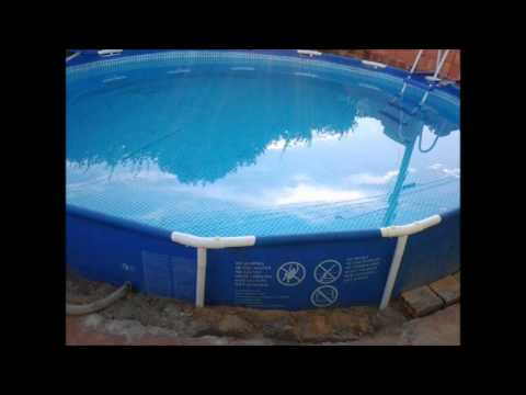 Piscina intex c mo enterrarla how bury an intex pool doovi for Piscinas desmontables para enterrar