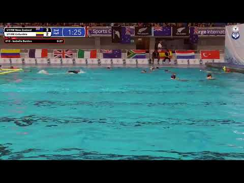 Game 204  (COL vs NZL U19W) ENGLISH- 5th CMAS Underwater Hockey Age Group Worlds - Sheffield, UK