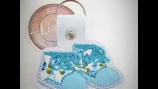 Baby Shoes Key Fob Digital Design Instructions by Lisey Designs